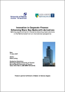 Finance netherlands project thesis