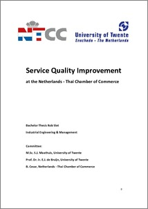 Service Quality Improvement at the Netherlands - Thai