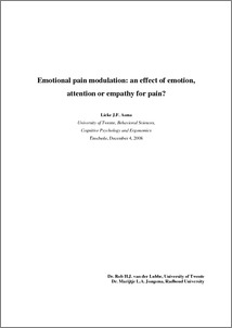 emotional pain modulation   an effect of emotion  attention or    emotional pain modulation   an effect of emotion  attention or empathy for pain