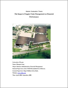 Master thesis supply chain management pdf
