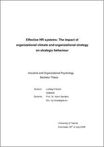Up in the air organizational behaviour