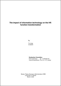 effects of technology on the hr function essay The emerging challenges in hrm  developing skills and competencies of human resources to  power of rupee and its spiraling effects in the ever.