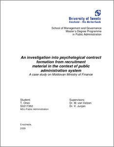 Psychological contract thesis pdf