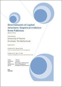 determinants of capital structure in pakistan essay 2016-9-29 tor's prefers to serve in the abroad instead to serve in pakistan er e are the many determinants of  loss of social capital  the service structure from.