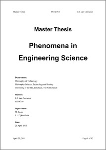 Master thesis learning outcomes