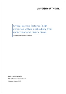 crm in higher education thesis Exploitation of customer relation management (crm) for strategic marketing in higher education master thesis within business informatics.