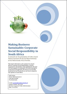 Corporate social responsibility in south africa