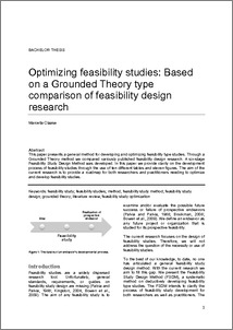 On a grounded theory type comparison of feasibility design research