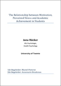 the relationship between motivation  perceived stress and academic    the relationship between motivation  perceived stress and academic achievement in students