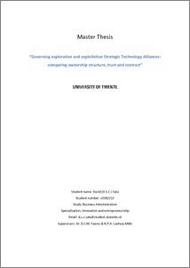 Utwente master thesis