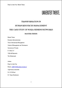 Nokia siemens networks thesis