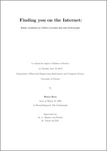 Master thesis online