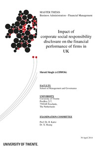corporate social responsibility disclosure and performance The nexus between corporate social responsibility disclosure (csrd) and  financial performance is an ongoing debate and a puzzle encountered by  business.