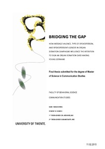 Bridging the gap essay