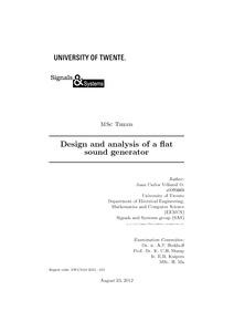 Design and analysis of a flat sound generator - University