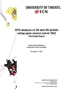 CFD analysis of 2D and 3D airfoils using open source solver