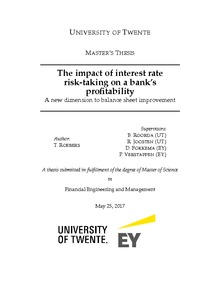 impact of operational risk in bank profitability Profitability) and credit risk management (in terms of loan performance) lending or credit creation seek to maximize profitable objective of bank, the rate at which commercial banks borrow from the central bank has gone down to 7% from 75.