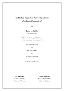 food safety regulation across the atlantic  conflict or
