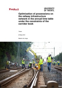 Optimisation of possessions on the railway infrastructure